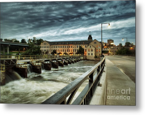 An Evening Down In The Flats Metal Print