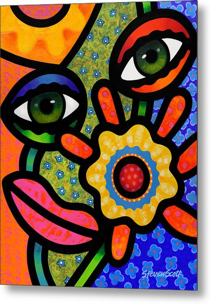 An Eye On Spring Metal Print