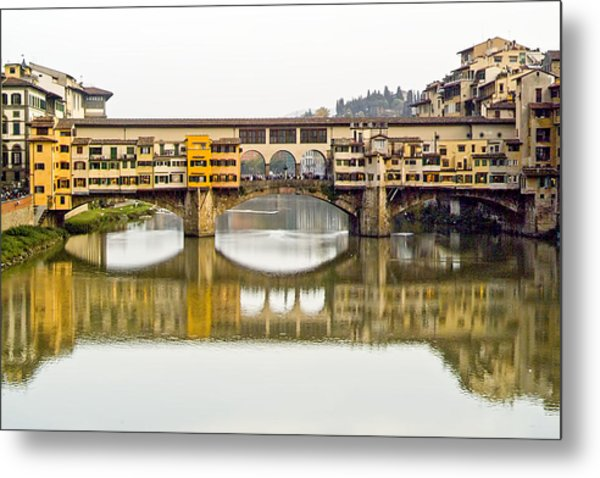 An Icon Of Florence -ponte Veccio Metal Print
