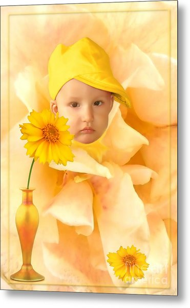 An Image Of A Photograph Of Your Child. - 09 Metal Print