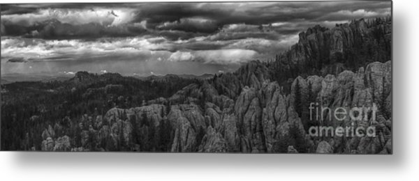 An Incoming Storm Over The Black Hills Of South Dakota Metal Print