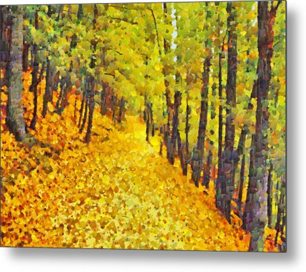 An October Walk In The Woods. 2 Metal Print