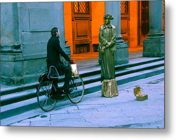 An Odd Conversation Metal Print