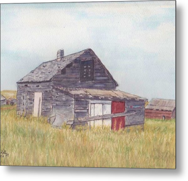 An Old Memory Home In The Grand Prairies Metal Print