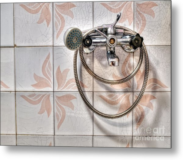 An Old Shower Metal Print by Sinisa Botas