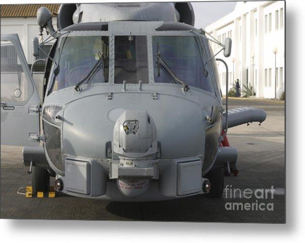 An Sh-60b Seahawk Of The Spanish Navy Metal Print