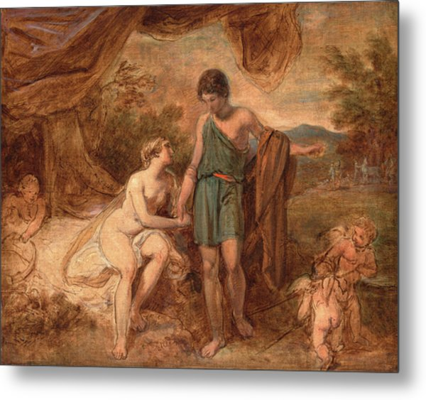 An Unfinished Study Of Venus And Adonis, Thomas Stothard Metal Print