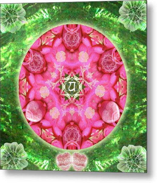 Anahata Rose Metal Print