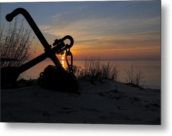Anchored Metal Print by Sandra Updyke