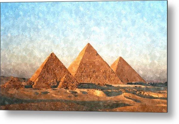 Ancient Egypt The Pyramids At Giza Metal Print