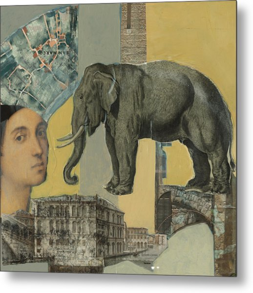 Ancient Elephant Metal Print