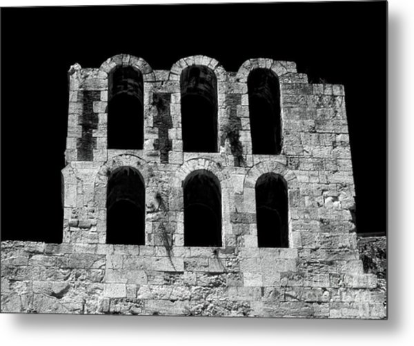 Ancient Greek Ruins Metal Print by John Rizzuto