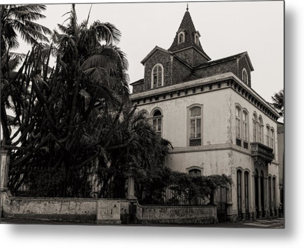 Ancient Hotel And Lush Trees  Metal Print