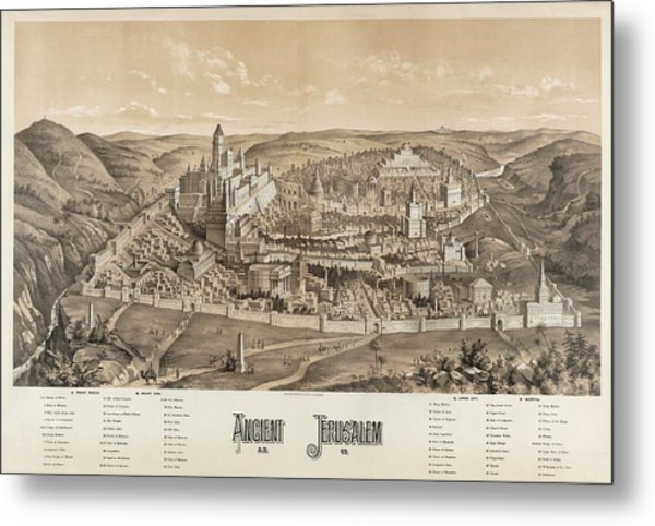 Ancient Jerusalem Metal Print by Library Of Congress/science Photo Library