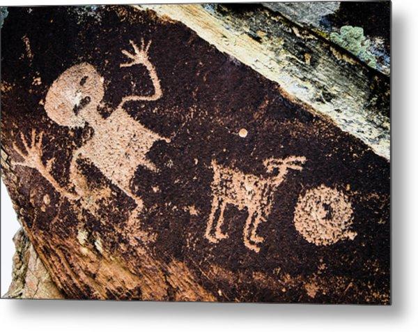 Ancient Native American Petroglyphs Metal Print