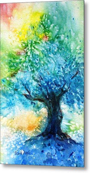 Ancient Olive Tree  Athenas Gift  Metal Print by Trudi Doyle
