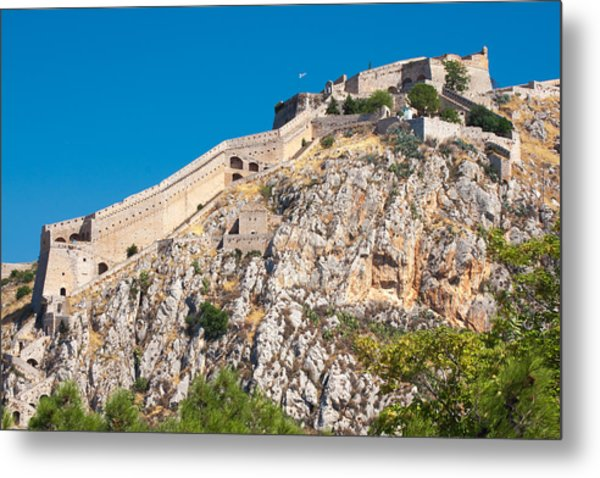 Ancient Palamidi Fortress Metal Print
