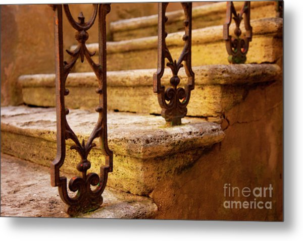 Metal Print featuring the photograph Ancient Steps by Brian Jannsen