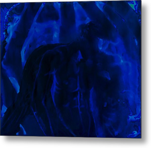 And Out In The Pouring Rain Metal Print