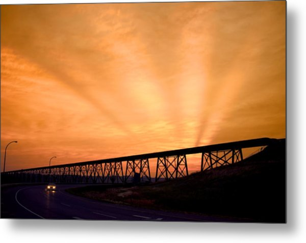 And The Sky Was On Fire Metal Print