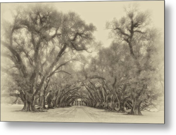 And Time Stood Still Sepia Metal Print