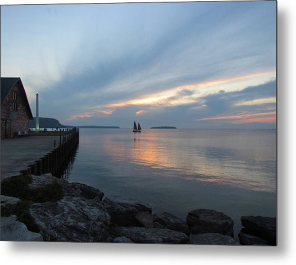 Anderson Dock Sunset Metal Print