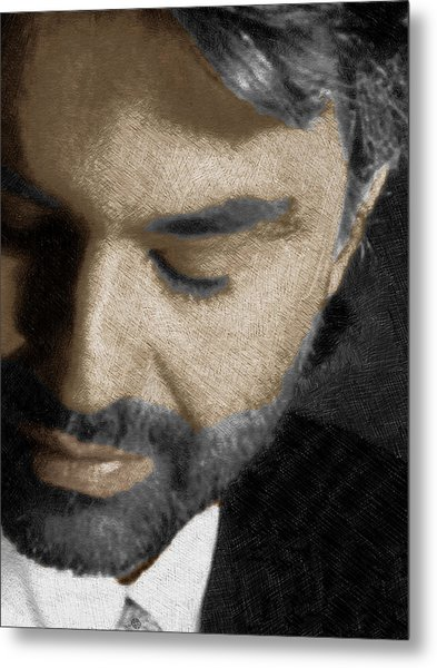 Andrea Bocelli And Vertical Metal Print