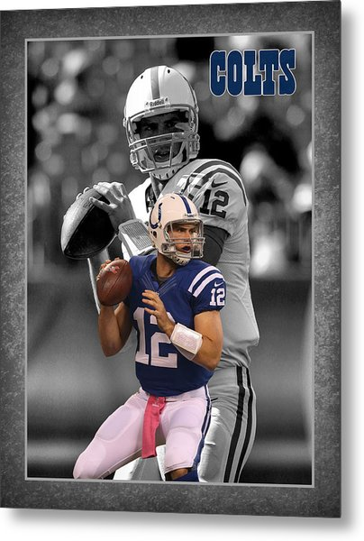Andrew Luck Colts Metal Print