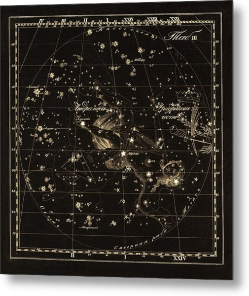 Andromeda Constellations, 1829 Metal Print by Science Photo Library