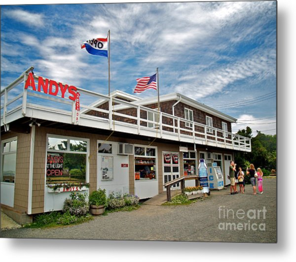 Andys At The Light Metal Print