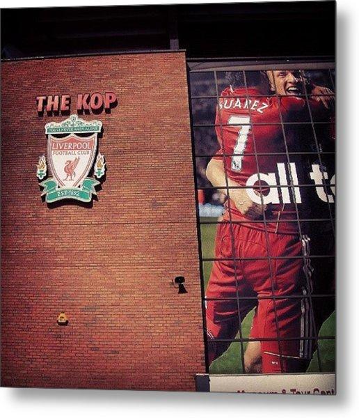 Anfield - Liverpool #football #club Metal Print