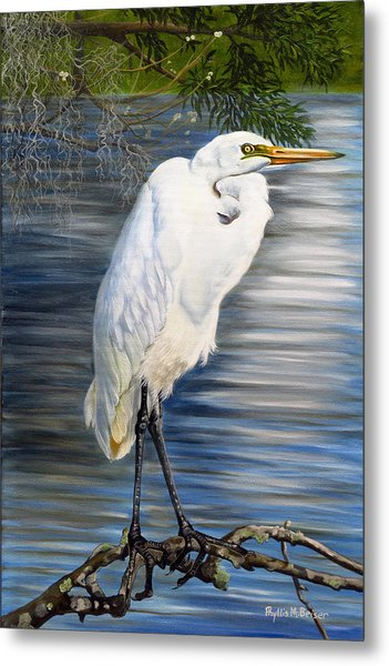Angel At Sylvia's Pond Metal Print