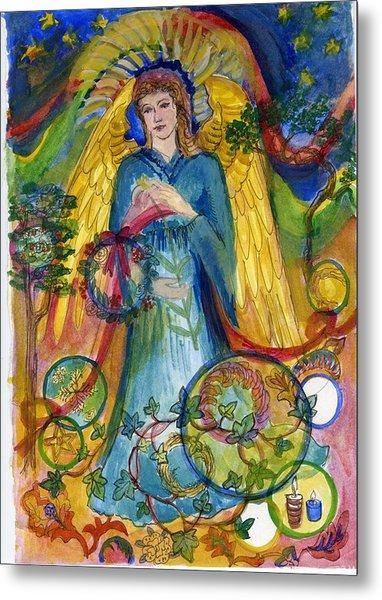 Angel In Blue Metal Print