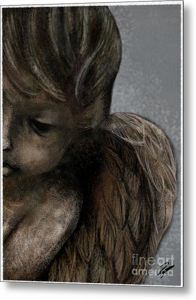 Angel In Pencil Metal Print