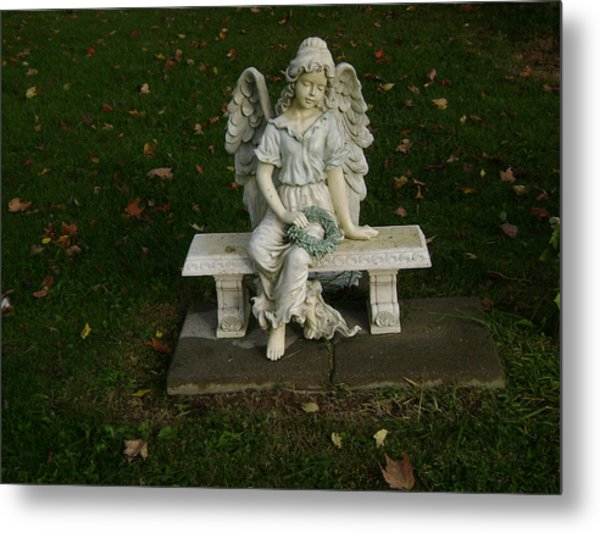 The Angel Is Watching Over Metal Print