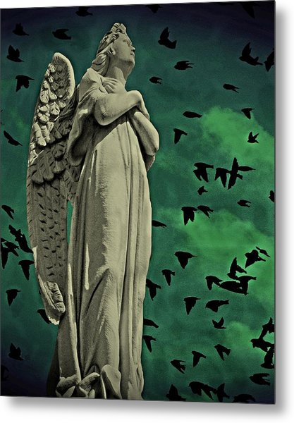 Angel Of Stone Metal Print