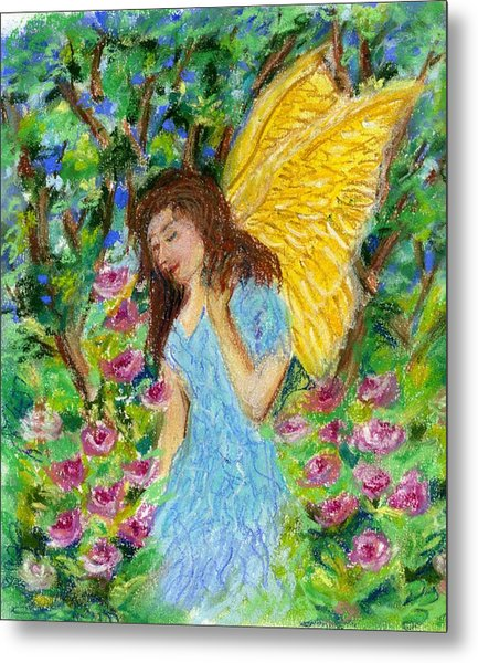 Angel Of The Garden Metal Print