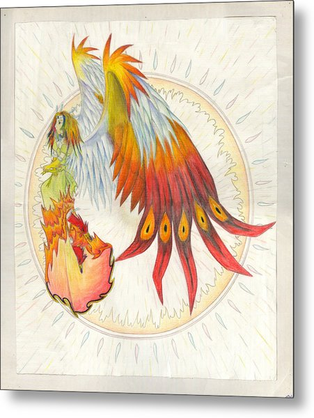 Angel Phoenix Metal Print