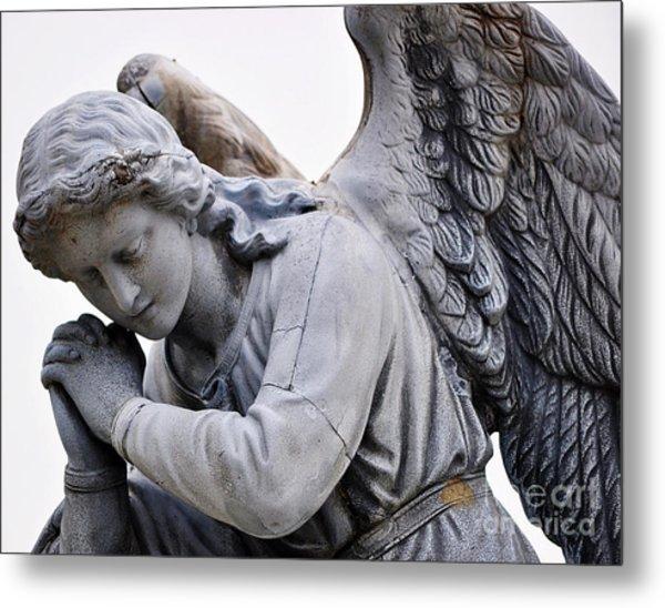 Angel Praying 2 Metal Print