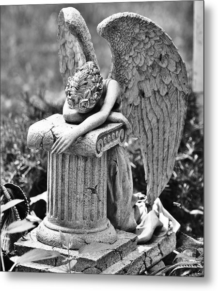 Angel Prays Metal Print by Al Fritz