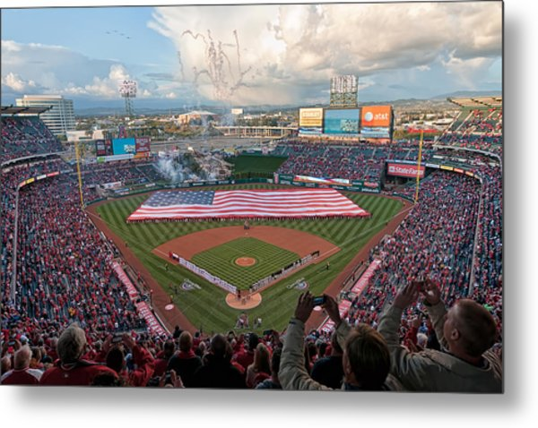 Angel Stadium Of Anaheim Metal Print
