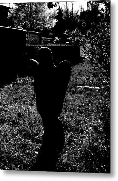 Angelic Silhouette Metal Print