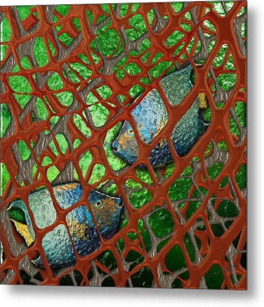 Angels Caught In An Emerald Pool Metal Print