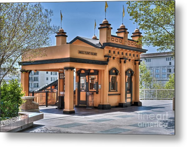 Angels Flight Landmark Funicular Railway Bunker Hill Metal Print