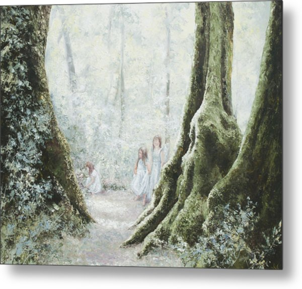Angels In The Mist Metal Print