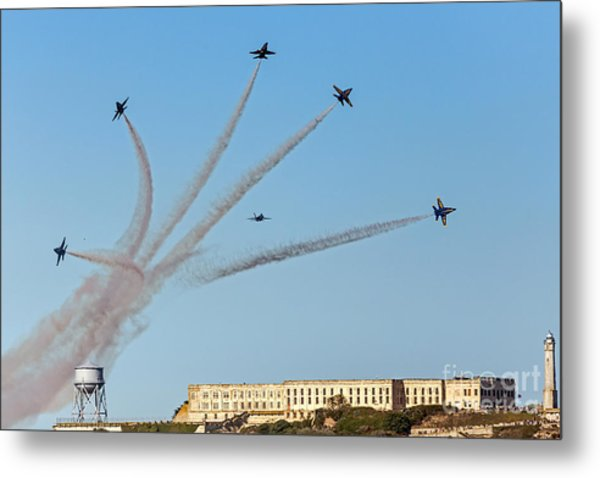 Angels Over Alcatraz Metal Print