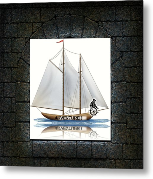 Angle Of View Metal Print by Museum Quality Prints -  Trademark Art Designs