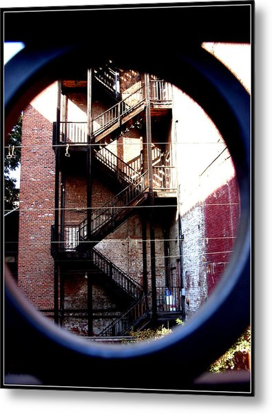 Angles Of Iron Metal Print by Misty Herrick