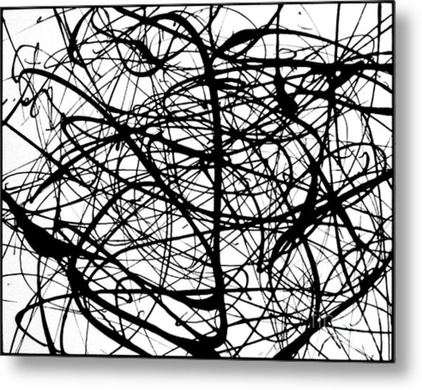 Angry Bird Catcher - Abstract Metal Print