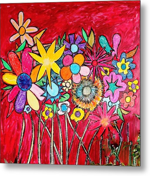 Angry Flowers Metal Print